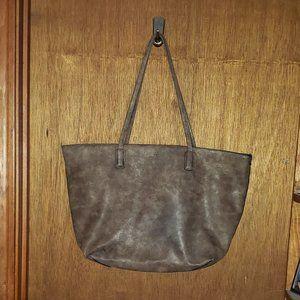 Large Brown 2 Pc A+ Tote Handbag Purse
